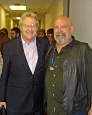 Jerry Springer and Frank Carlier